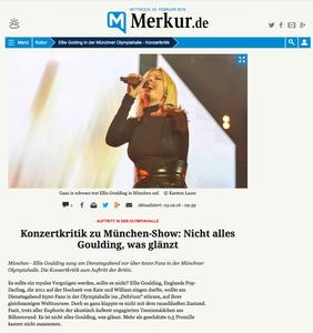Ellie Goulding, Münchner Merkur, 03.02.2016