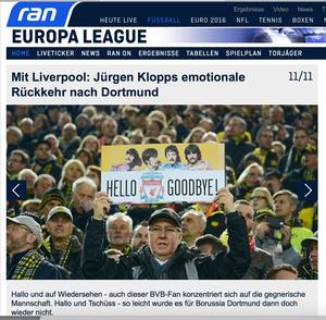 Borussia Dortmund - FC Liverpool, ran.de