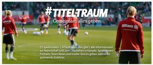 """Allianz-Kampagne """"Titeltraum"""" zur FIFA Frauen-WM 2015"""