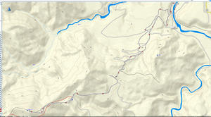 肘折温泉から大森山までのGPS軌跡