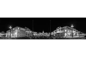 """Trieste Mon Amour"" Trieste: panoramica notturna di Piazza Unità d'Italia"" e de Le Rive ~ Premio Internazionale Ambasciatore d'Arte 2019 (Istanbul - Pechino - Shanghai - Tokyo)"