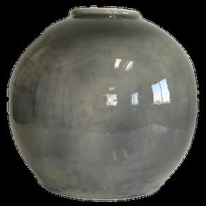 Vase boule grand modèle gris Hauteur 23 cm