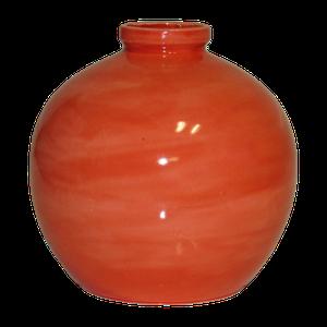 Vase boule petit modèle couleur corail Hauteur 15 cm