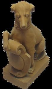 Statue chien hauteur 68 cm