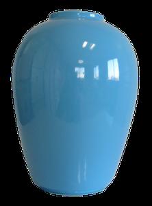 Vase ovale bleu Hauteur 24 cm
