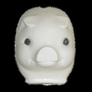 Tirelire modèle cochon couleur blanc vu de face