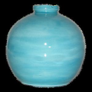 Vase boule petit modèle couleur bleu turquoise Hauteur 15 cm