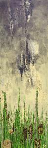 Ewigkeit trifft auf hier und jetzt, Acryl auf Leinwand, 30x90 cm. 370.-