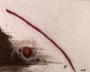 Passion, Acryl auf Leinwand mit Gips, 40x50 cm. 450.-