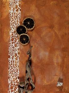 Styl-leben, Naturmaterialien auf Leinwand, 40x30 cm. 120.-