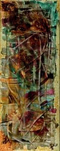 Grisgram, Spachteltechnik, 50x20 cm. 90.-