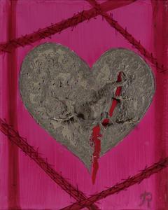 Zerstörte Liebe, Acryl auf Leinwand