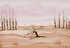Vom Leben gezeichnet, Acryl auf Leinwand, als Repro erhältlich