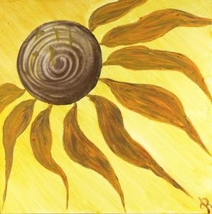 Blütenzauber, Acryl auf Leinwand, 40x40 cm. 290.-