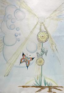 DU bringst Farbe in mein Leben, Aquarell auf Büttenpapier, als Repro erhältlich,