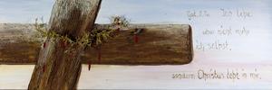 Passion, Acryl auf Leinwand mit Gips und Dornen aus Zypern