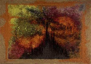 Passion, Acryl auf Leinwand mit Leim und Verputz, gerahmt, 55x75cm. 80.-