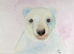 Teddy, Aquarell auf Papier, als Repro erhältlich,