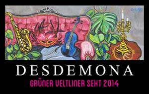 """Matthias Laurenz Gräff, Garser Wein 2016, Sektetikette """"Desdemona"""""""