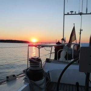 Sonnenuntergang im Grönsund