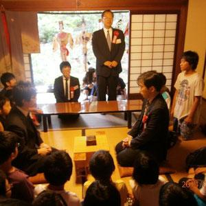 解説石川先生 立会人 田中先生