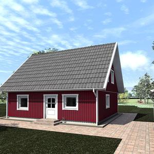 Referenz Nordkap 110 Schwedenhaus Aussenansicht