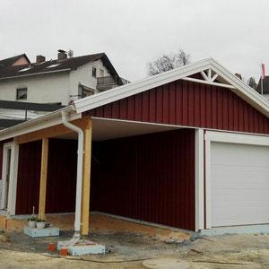 Referenzbeispiel Carport mit Garage von Berg-Schwedenhaus