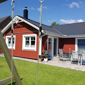 Referenz von Modell Älmhult 120 Berg-Schwedenhaus Aussenansicht