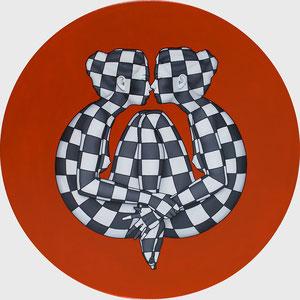 Danilo Martinis,Ciercle 02,  Oil on canvas, 70 diameter
