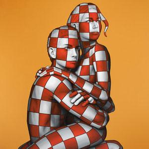 Danilo Martinis, Guardiamo al futuro con speranza, Oil on canvas, 100x80 cm