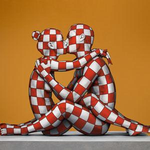 Danilo Martinis, Gold kiss, oil on canvas, 100x120 cm