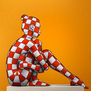 Danilo Martinis, Solitude, Oil on canvas, 80x80 cm