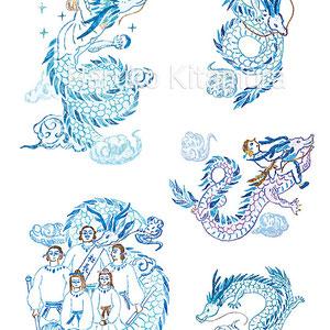 『sweet特別編集 「引き寄せの法則」パーフェクトBOOK』カットイラスト 龍と女の子