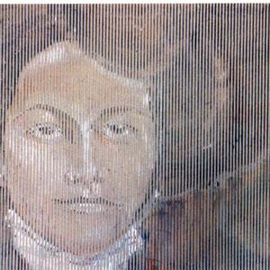 Else, 92 x 72 cm, Acryl auf Wellpappe, 2001