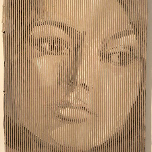 Brigitte, 70x80cm, Acryl auf Wellpappe, 2003