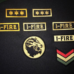 Aufnäher für das I-Fire Album