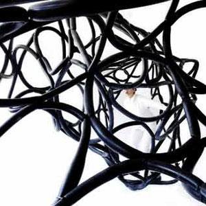 Loop, 2011, Fahrradschläuche, Installation