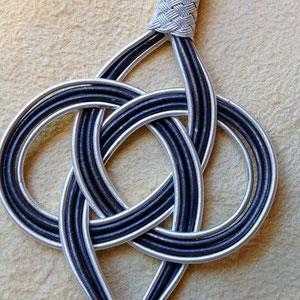 Endlosknoten aus reinem Silber in traditioneller Herstellungsart der Kazaz- oder Trabzon-Silberdrahtkunst, i-must-have.it
