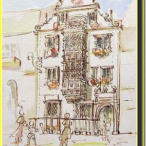 * 17a  Colmar, la Maison des Têtes,village alsace