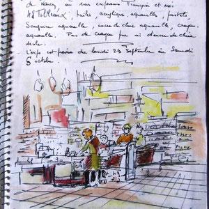 157- Lors d'une exposition dans la galerie marchande de Cora à Nancy...