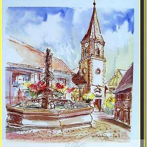 Wettolsheim,village alsace