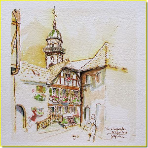 *  20a St-Hippolyte,village alsace