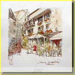 * 18a Colmar, la rue des Marchands,village alsace