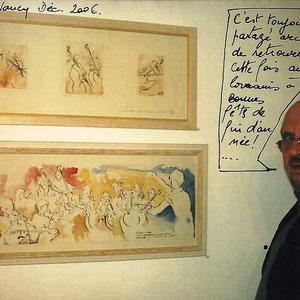 """J'ai exposé quelques années """"Aux Artistes Lorrains"""" à Nancy. C'est lors d'une expo qu'un sympathique visiteur m'a envoyé sa photo accompagnée du commentaire assorti !"""