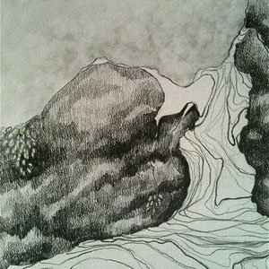 "Autumn's End, graphite on paper, 17"" X 11"", 2013"
