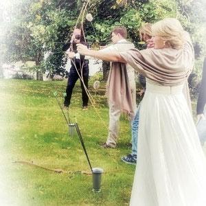 Bogenschießen als Hochzeitsevent