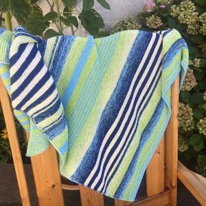 Colours of Scotland / Farbzusammenstellung, Tuch gestrickt und fotografiert von Beate Germer