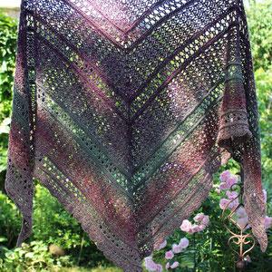 Tuch: My Precious-Tuch Morben Design /Wolle: Waldläufer  / gestrickt von Magdalena Palm