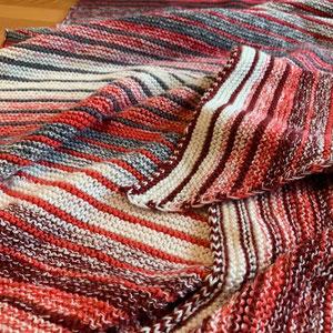 Lillejuleaften / Tuch gestrickt und fotografiert von Gaby Schierle