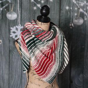 Weihnachtsleuchti 1000m / Tuch gestrickt und fotografiert von Sandra Metzner